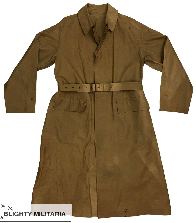 Scarce Original 1945 Dated British Army Officers Macintosh Raincoat