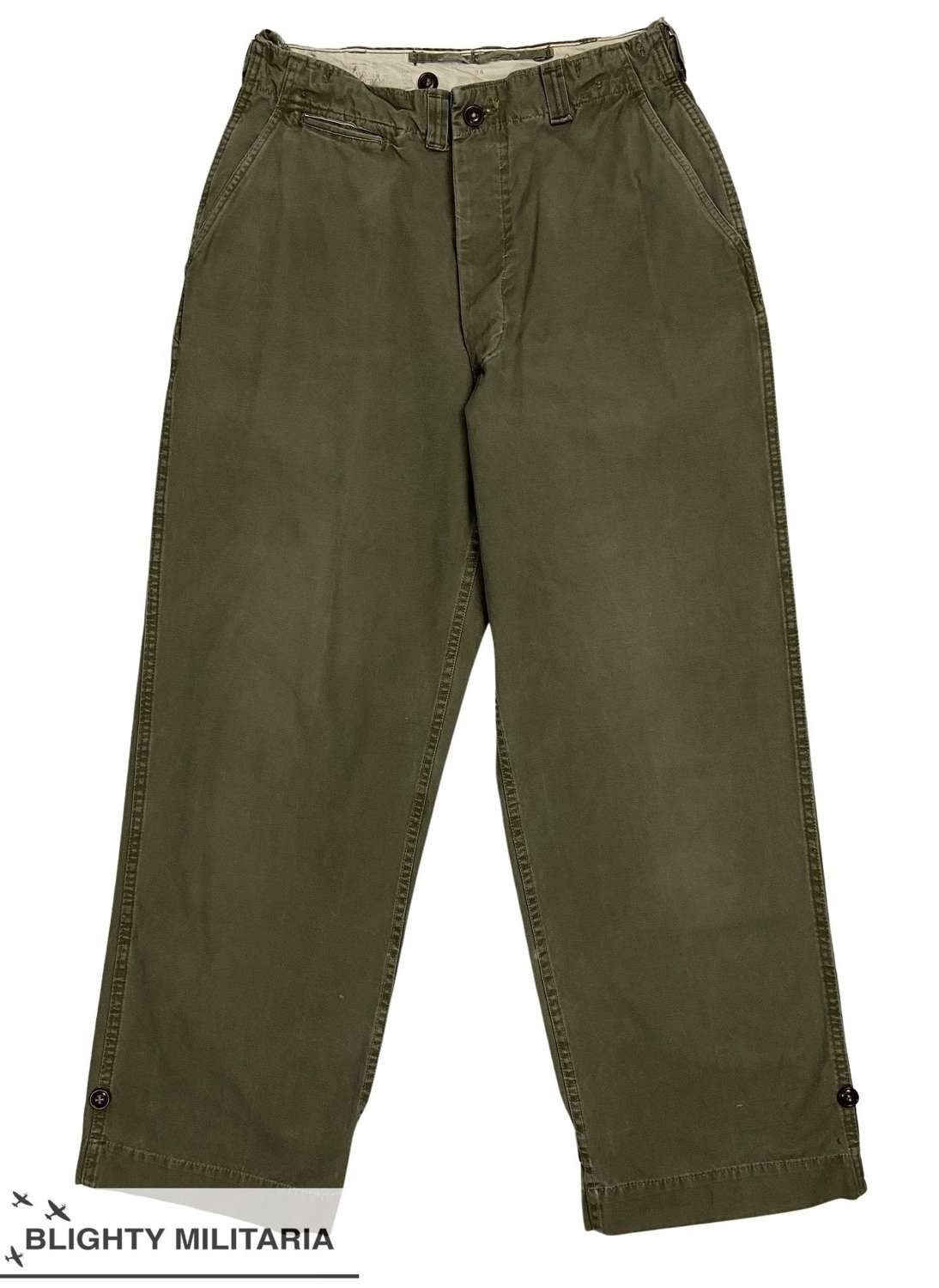 Original 1950 Dated US Army M1943 Pattern Trousers - Size 30x31
