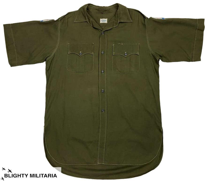 Original 1950s British Army Officers Jungle Green Shirt - FARELF