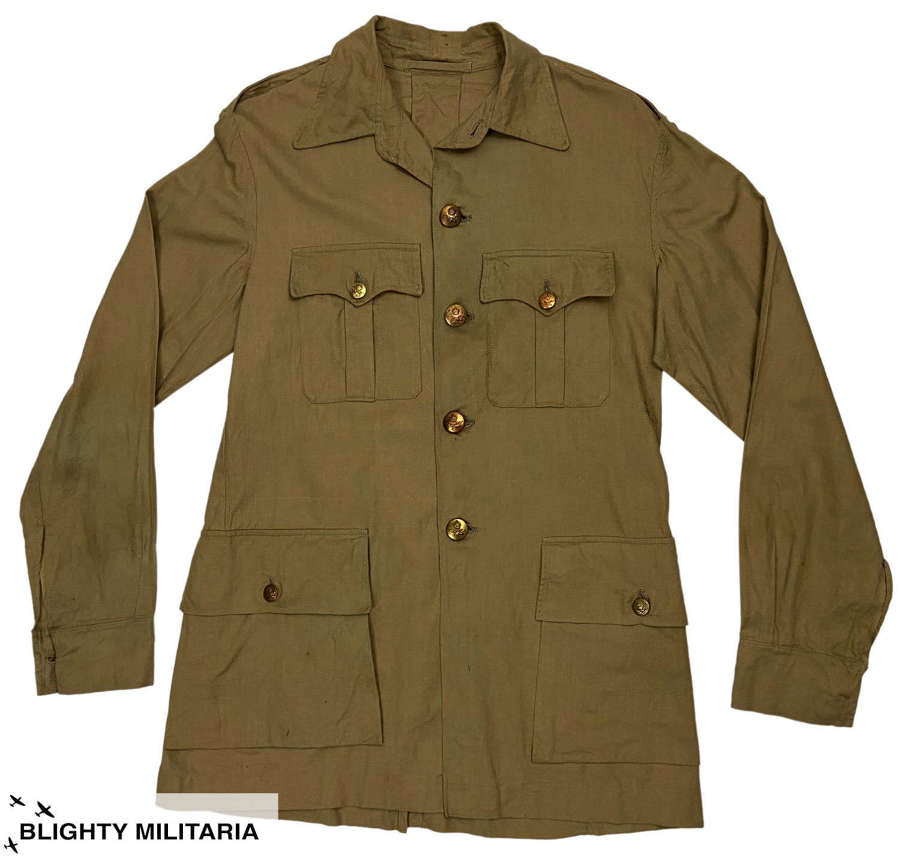 Original WW2 RAF Officer's Khaki Drill Bush Jacket