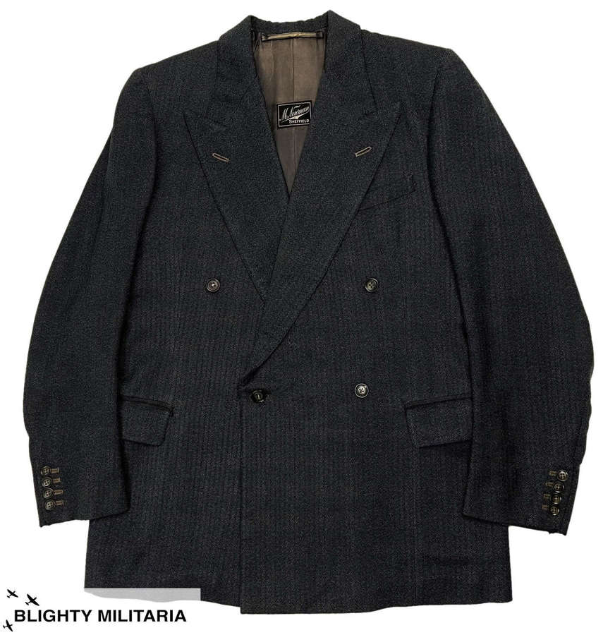 Original 1954 Dated Men's Double Breasted Jacket by 'M. Newman'