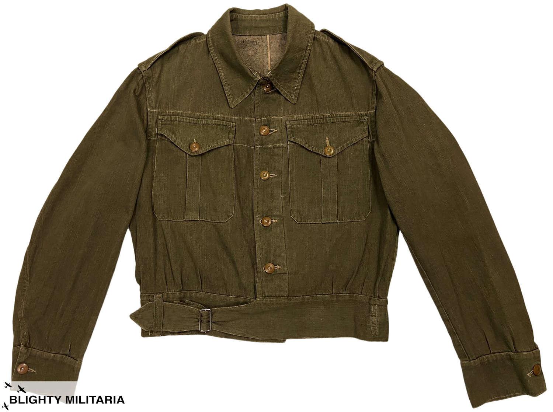 Original Early WW2 British Army Denim Battledress Blouse