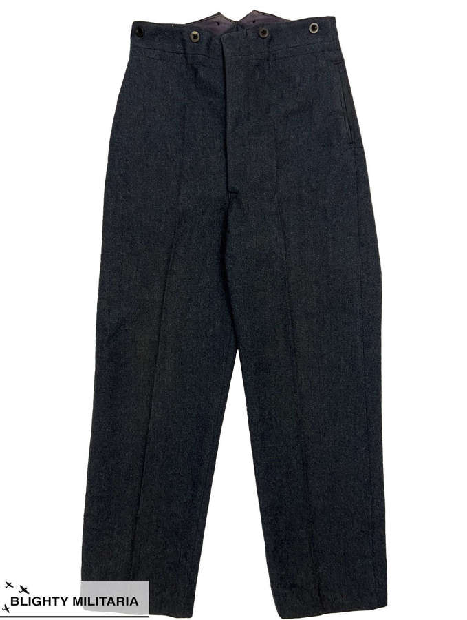 Original 1949 Dated RAF Ordinary Airman's Trousers - Size 27