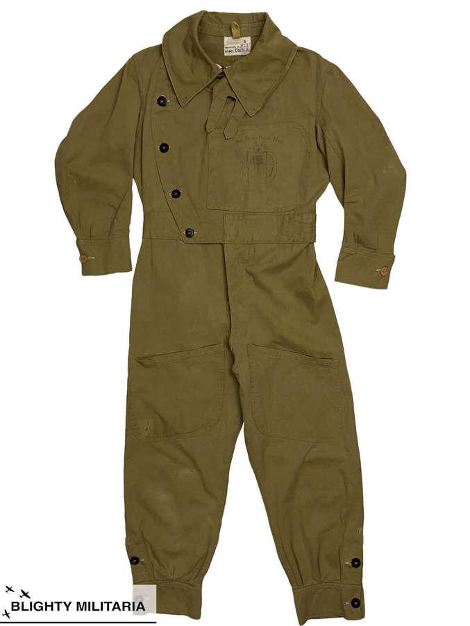 Rare Original WW2 Australian Made Sidcot Suit with Artwork