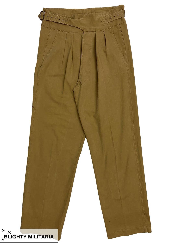 Original 1950 Pattern British Khaki Drill Trousers