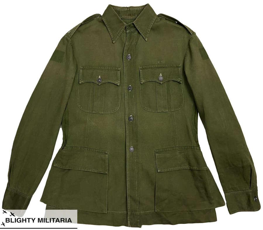 Original 1950s British Army Officers Jungle Green Bush Jacket