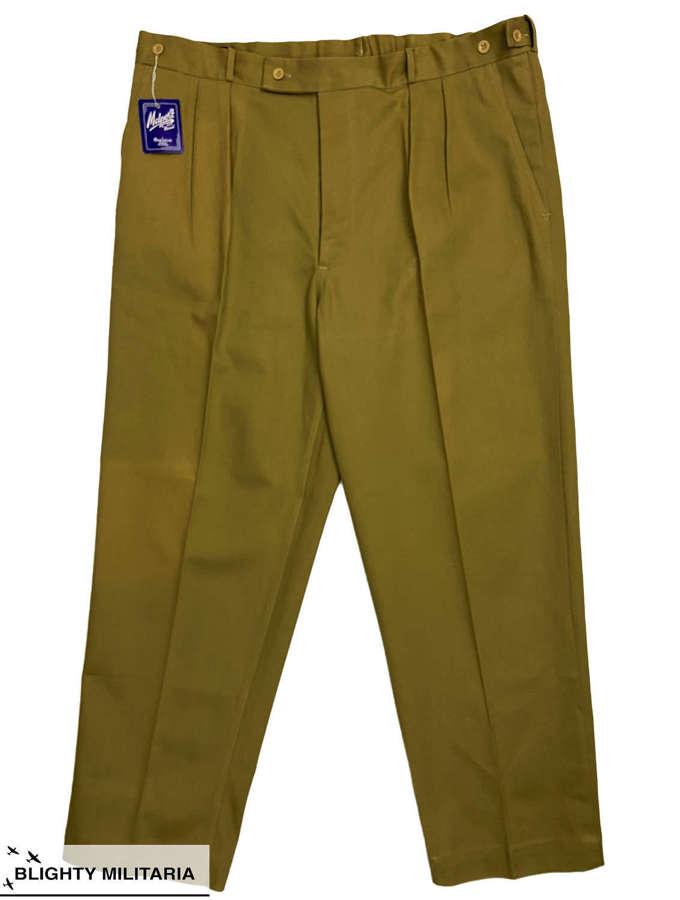 Original 1950s British Khaki Drill Work Trousers by 'Malport'