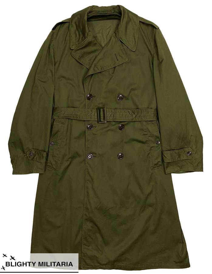 Original 1953 Dated US Army O.G. 107 Raincoat - Size Medium Regular