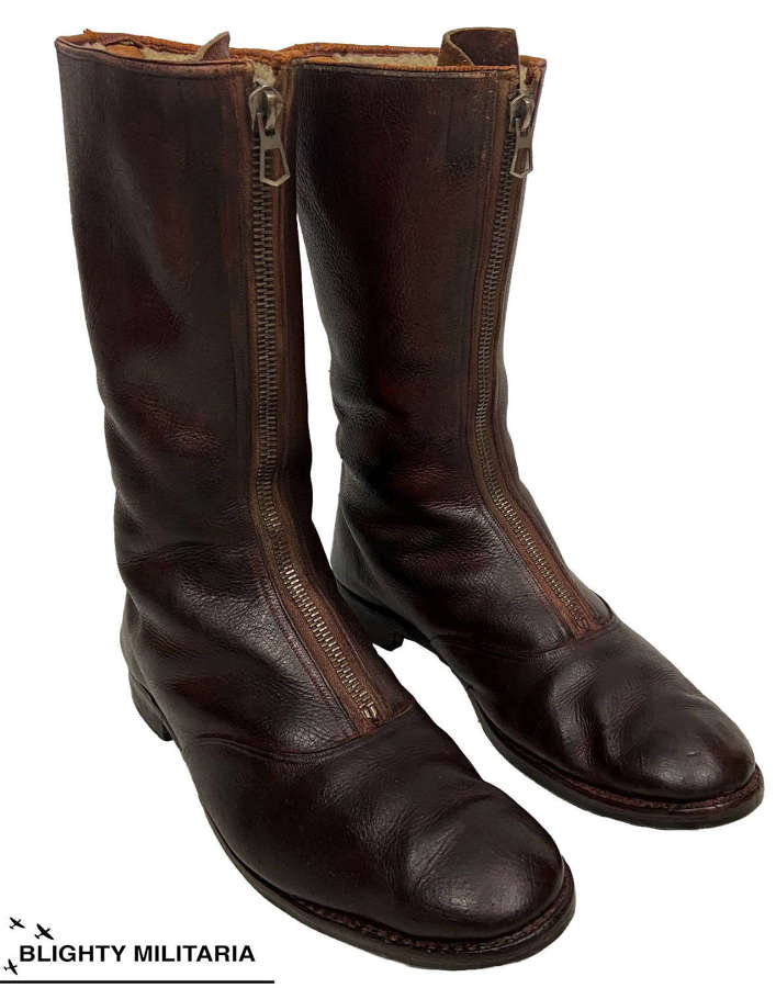 Scarce 1930s Flying Boots by 'Harrods' - Size 10 1/2
