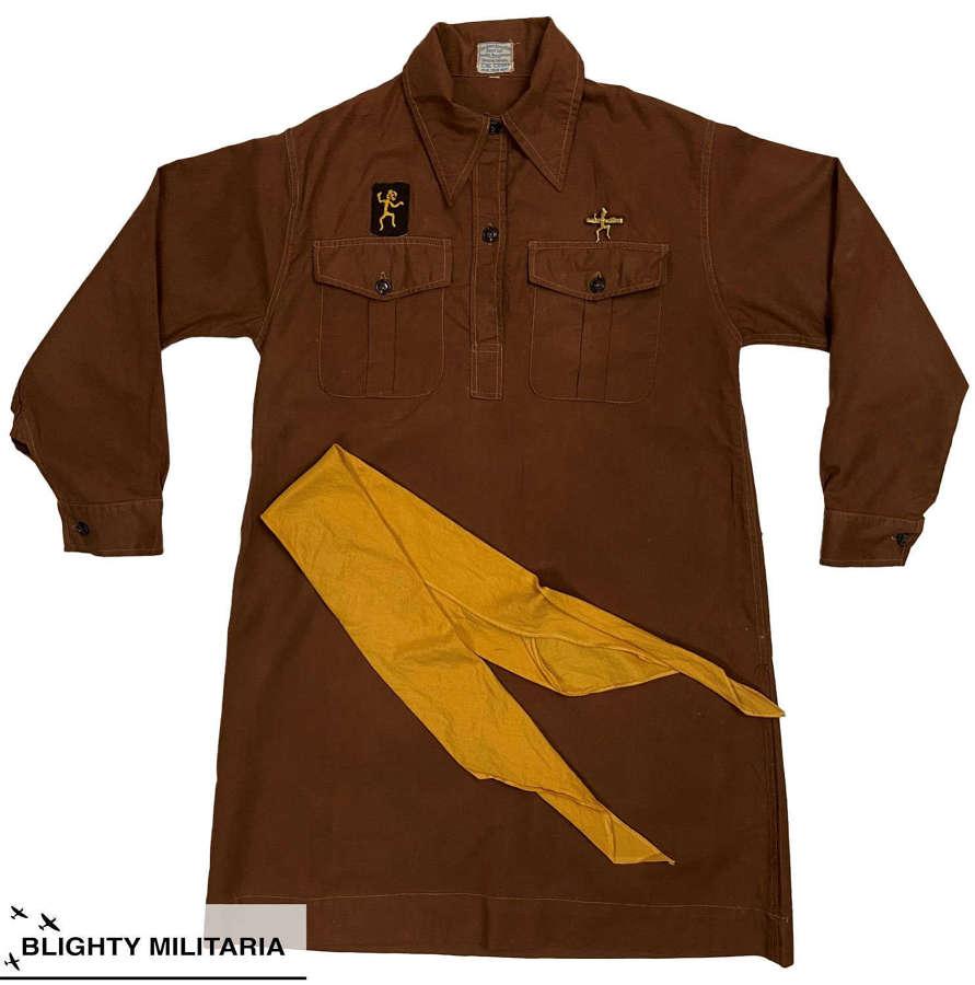 Original 1940 Girl Guides Brownies Uniform Dress and Tie
