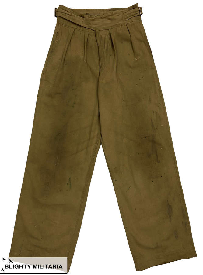 Original 1945 Dated Indian Made Khaki Drill Trousers